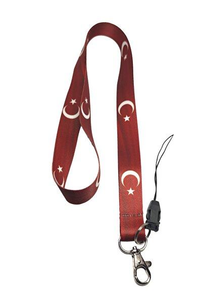 Şanlı Türk Bayrağı Boyun Ipi Ve Telefon Askısı