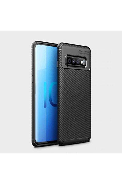 Galaxy S10 Plus Nezih Case Kamera Korumalı (carbon Tasarım) Silikon Kılıf Siyah