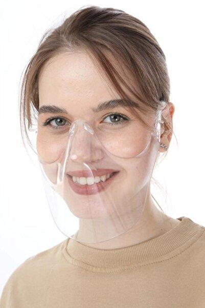 Kadın Kutulu Şeffaf Ağız Koruma Maskesi