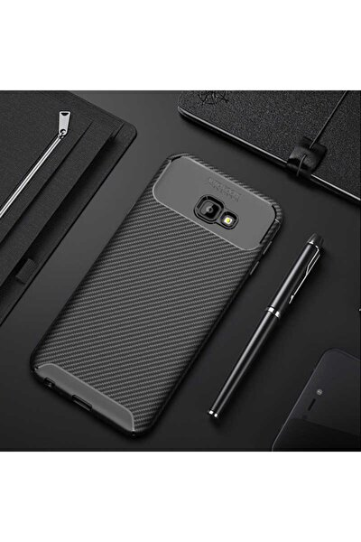 Galaxy J4 Plus Nezih Case Kamera Korumalı (carbon Tasarım) Silikon Kılıf Siyah