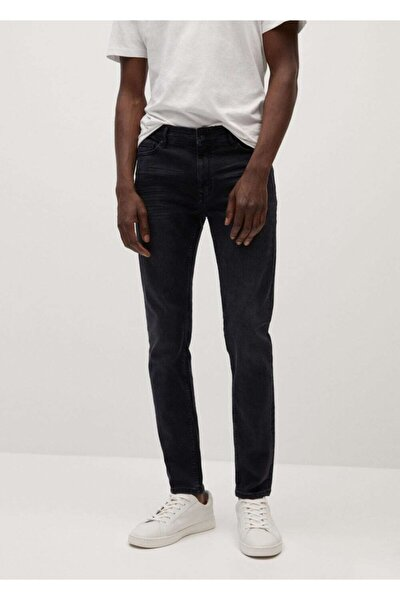 Erkek Açık Gri Skinny Kesim Jude Jeans