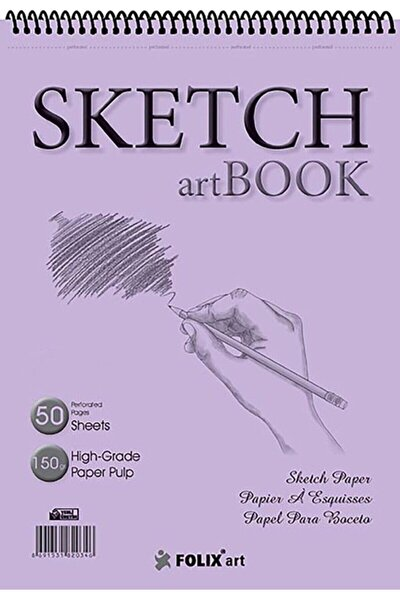 Eskiz Defteri 150 gram A5 50 Yaprak Spiralli Ivory Sketchbook A5 17x24 Cm Sketch Artbook Flx-0803