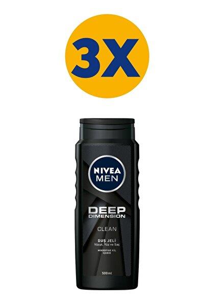 Men Deep Dimension Duş Jeli 500 ml X3