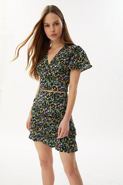 Çok Renkli Crop Bluz TWOSS21BZ0974