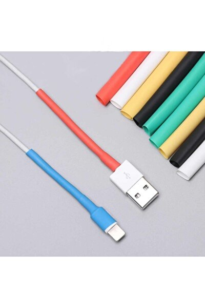Apple Orjinal Iphone Uyumlu Lightning  Usb Şarj Kablosu Koruyucu Isıyla Daralan Makaron Kablo Kılıf
