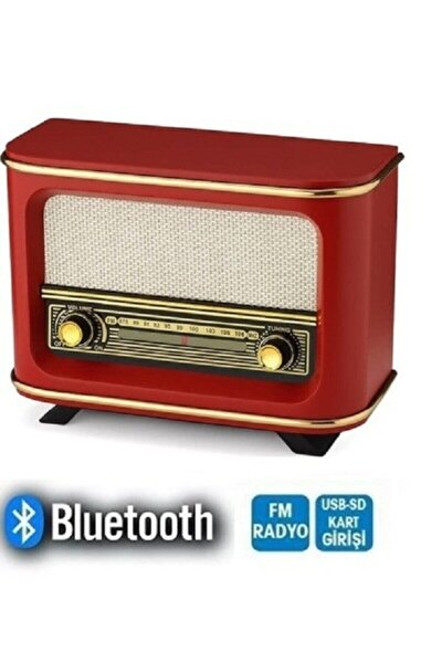 Ahşap Nostaljik Radyo Bluetooth ve Usb Destekli Istanbul Modeli + Adaptör