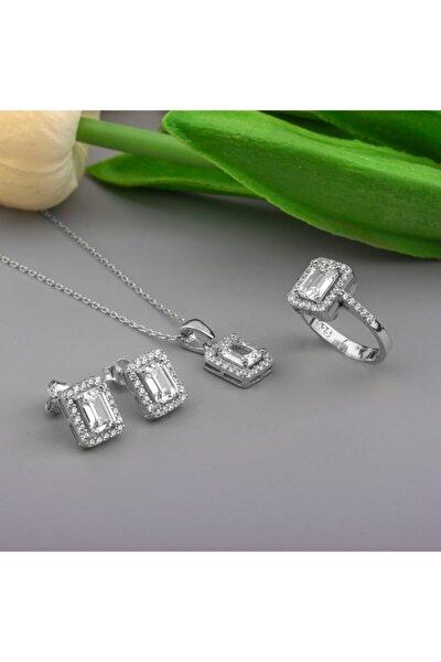 Kadın 925 Ayar Gümüş Baget Set