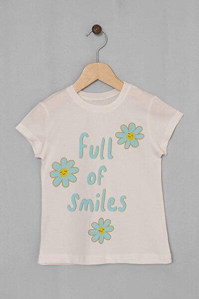 Kız Çocuk T-shirt Full Of Smiles Baskılı