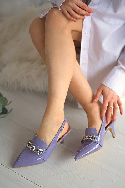 Kadın Lila Topuklu Ayakkabı