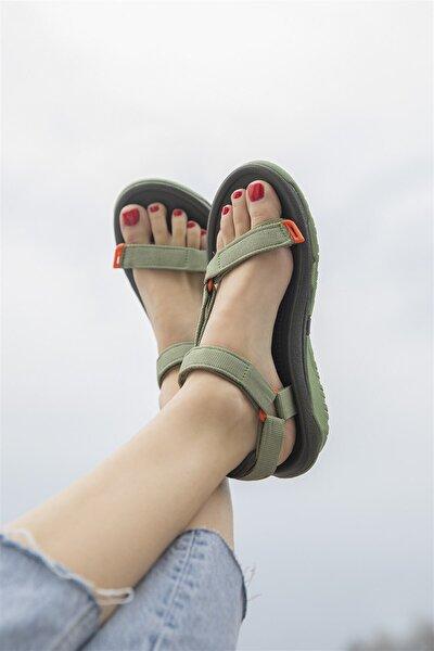 Kadın  Harlow  Cırt Detay Günlük Sandalet Yeşil