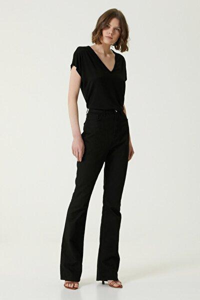 Kadın Basic Fit Siyah Yüksek Bel Jean Pantolon 1078438