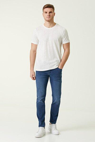 Erkek Skinny Fit Lacivert Normal Bel Jean Pantolon 1078344