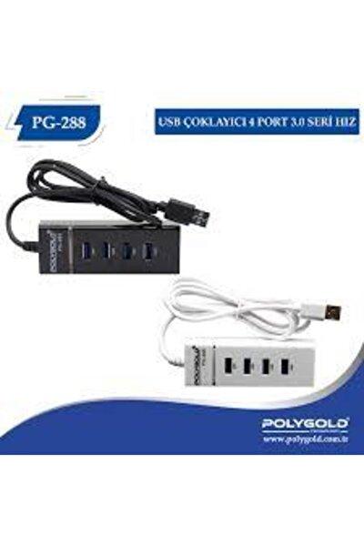 Usb 3.0 Çoklayıcı 4 Port 1.2 Metre Kablo 2 Tb Usb Hub Pg-288 Siyah