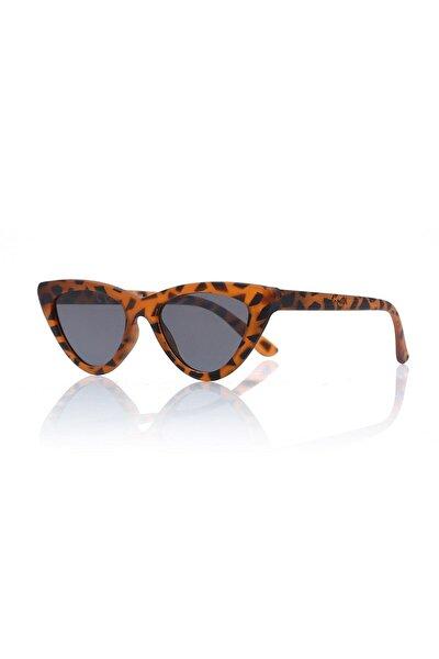 Kadın Güneş Gözlüğü Leopar Kahverengi