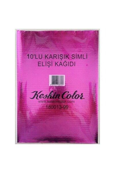 Elişi Kağıdı Simli 10 Lu Karışık Renk 180013-99
