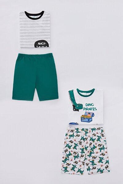 Çok Renkli  Pijama Takımı 4lu