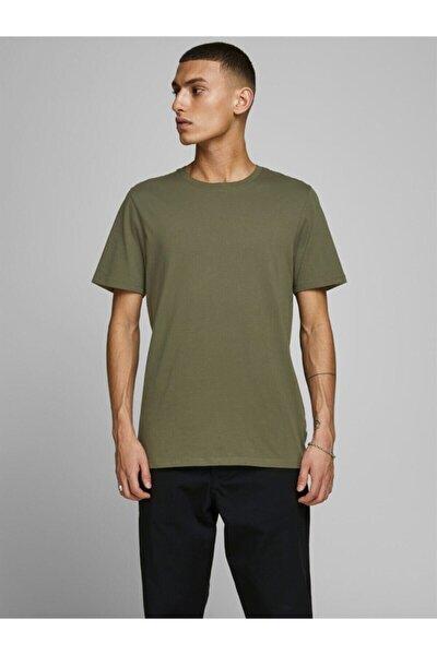 JJEORGANIC BASIC TEE SS O Yeşil Erkek T-Shirt 101069472