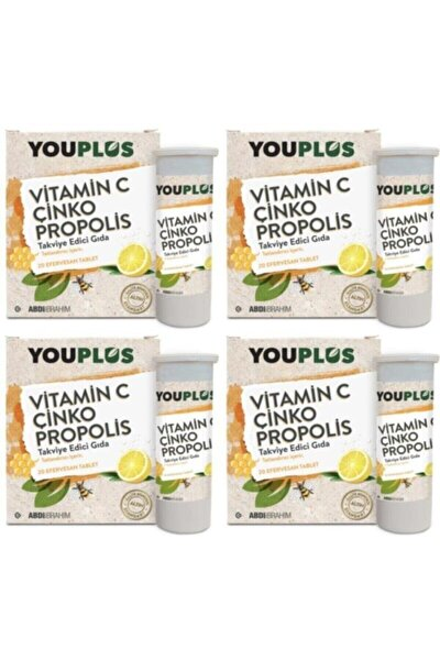 C Çinko Propolis 20 Efervesan Tablet 4'lü Vitamin