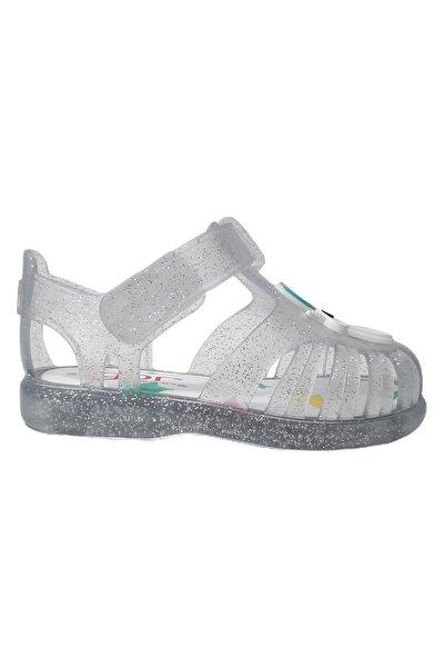 Unisex Bebek Gri Sandalet