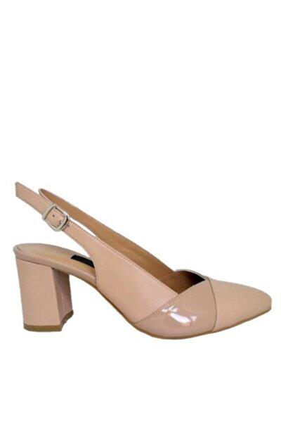 Kadın Nude Hakiki Deri Topuklu Ayakkabı 2359