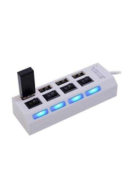 4 Port Usb Hub 2.0 Çoklayıcı Anahtarlı Işıklı Çoğaltıcı Switch