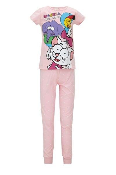 Kız Çocuk Kral Şakir Lisanslı Kısa Kol Pijama Takımı