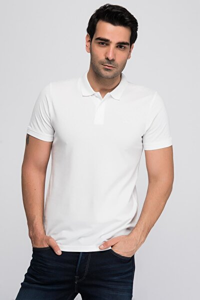 JJEBASIC POLO SS NOOS Beyaz Erkek Kısa Kol T-Shirt 101069441