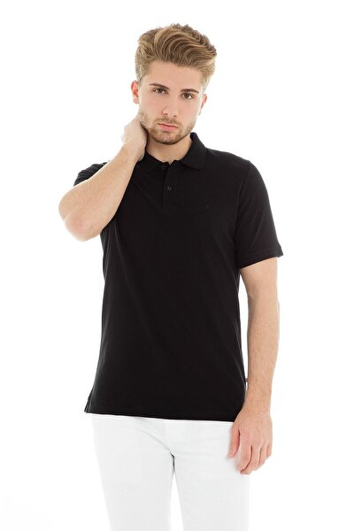JJEBASIC POLO SS NOOS Siyah Erkek Kısa Kol T-Shirt 101069443