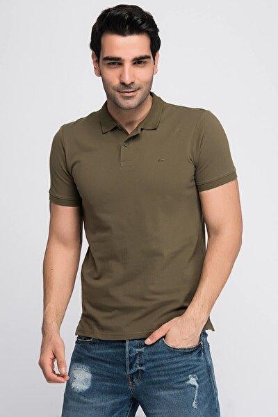 JJEBASIC POLO SS NOOS Yeşil Erkek Kısa Kol T-Shirt 101069444