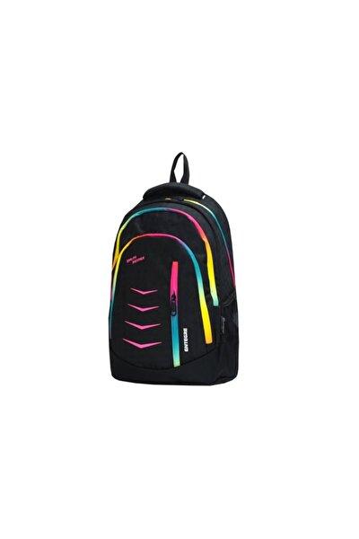 Unisex Çocuk Siyah Entegre Okul Çatası  9837