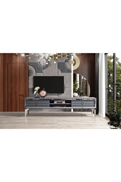 Panjurlu Tv Sehpası Antrasit