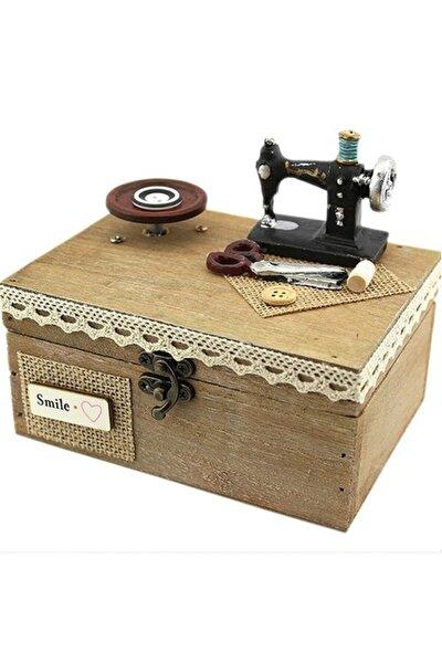Ahşap Dikiş Makinesi Tasarımlı Müzik Kutusu