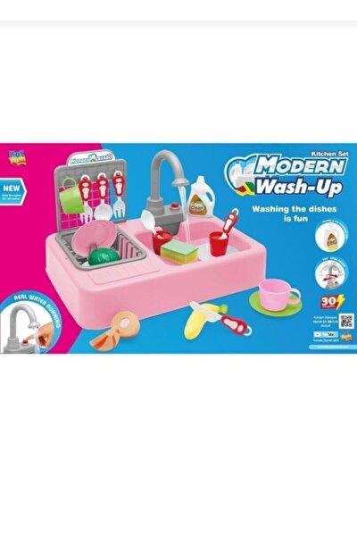 Musluktan Su Akan Oyuncak Lavabo Mutfak Seti Erkek Ve Kız Oyuncakları
