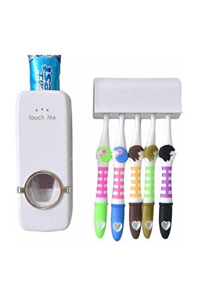 Otomatik Diş Macunu Sıkacağı 5 Adet Fırçalık