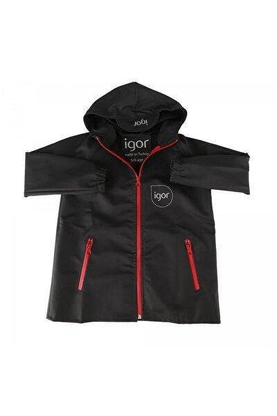 Unisex Çocuk Siyah Sparrow Yağmurluk Giyim W70100