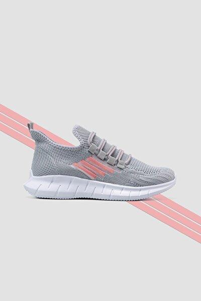 Triko Kumaş Sitreç Bağcık Detaylı Sneakers