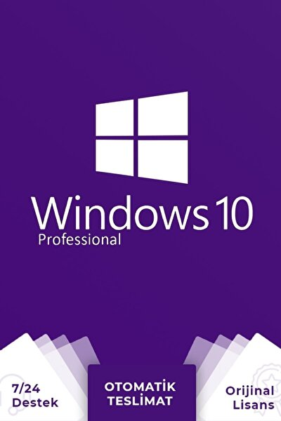 Windows 10 Pro Lisans +32&64 Bit Uyumlu +ömür Boyu