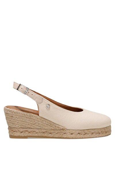 MERWILLA 1FX Bej Kadın Dolgu Topuklu Sandalet 101027190