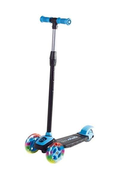 Mavi Led Işıklı 3 Tekerlekli Yükseklik Ayarlı Scooter - Mavi