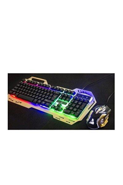 En Siga Ledli Oyuncu Klavyesi Gamıng Klavye Mouse Set Işıklı Pg-8014