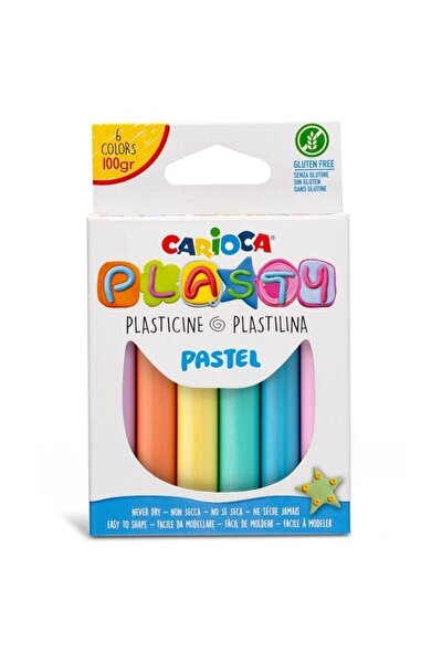 Plasty Kurumayan Oyun Hamuru - 6 Pastel Renk 100 gr