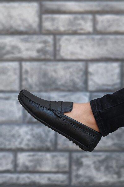 Erkek Siyah Klasik Casual Loafer Ayakkabı