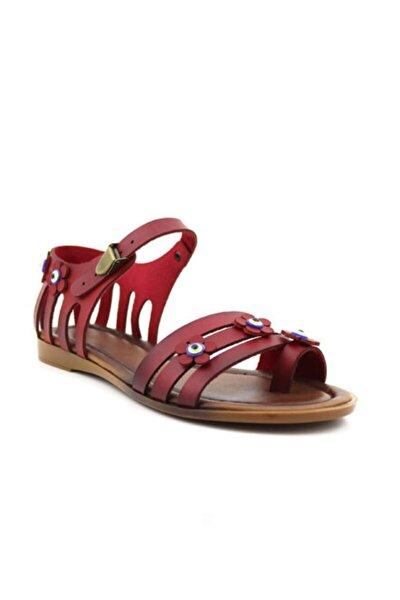 Bodrum Düz Taban Kırmızı Kadın Sandalet