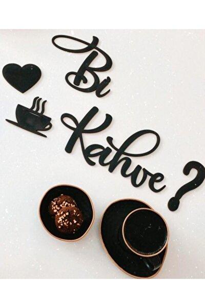 Bi Kahve Ahşap Mutfak Duvar Dekoru