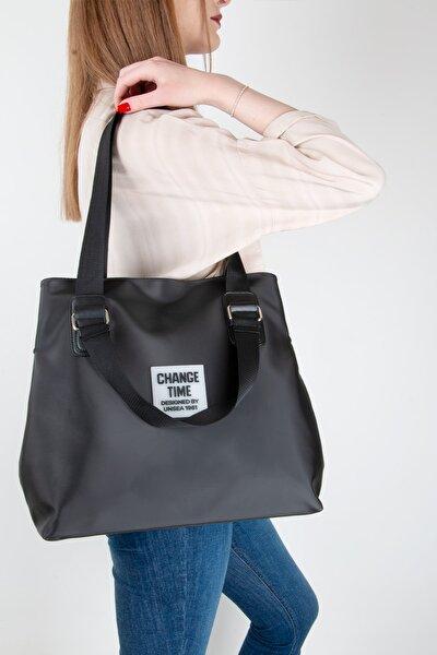 Patlı Kadın Shopper Omuz Çantası Gl-013 Siyah