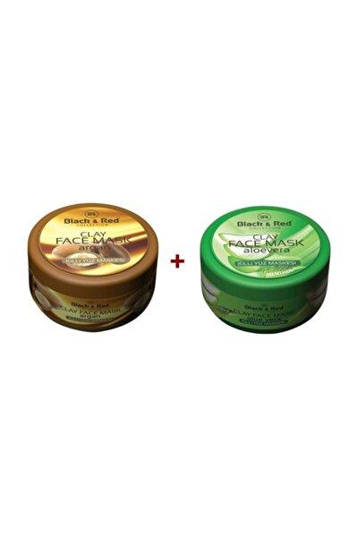 Argan Yağlı 400 Ml + Aloe Vera 400 ml Killi Yüz Maskesi