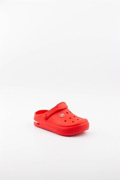 Unisex Çocuk Kırmızı  Işıklı Terlik