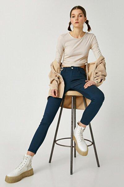 Kadın Lacivert Jeans Pantolon