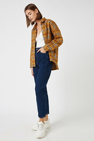 Kadın Mavi Pamuklu Jeans 1KAK47091MD