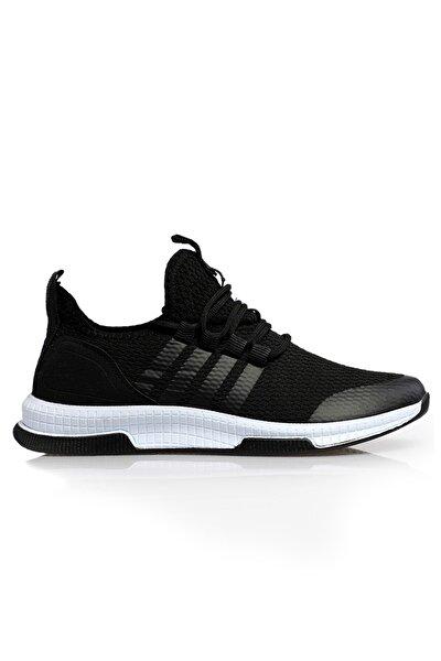 Unisex Siyah Beyaz Ortopedik Spor Sneaker Ayakkabı